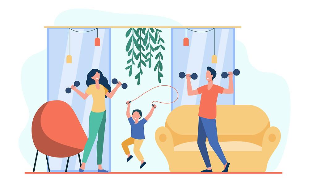 family fitness smoke-free environment