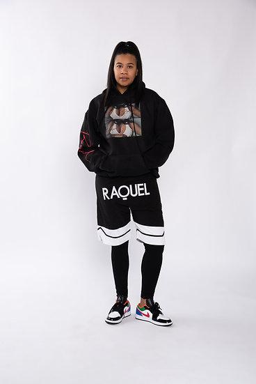 RAQUEL Logo Basketball shorts
