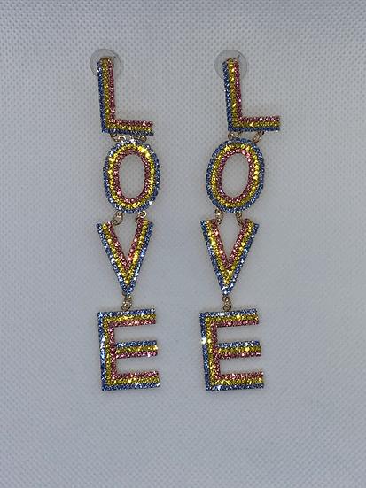 LOVE Colors Chandelier Earrings
