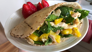 Honey Mustard Chicken Pita