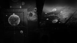 Wandmalerei: grafischer Kosmos