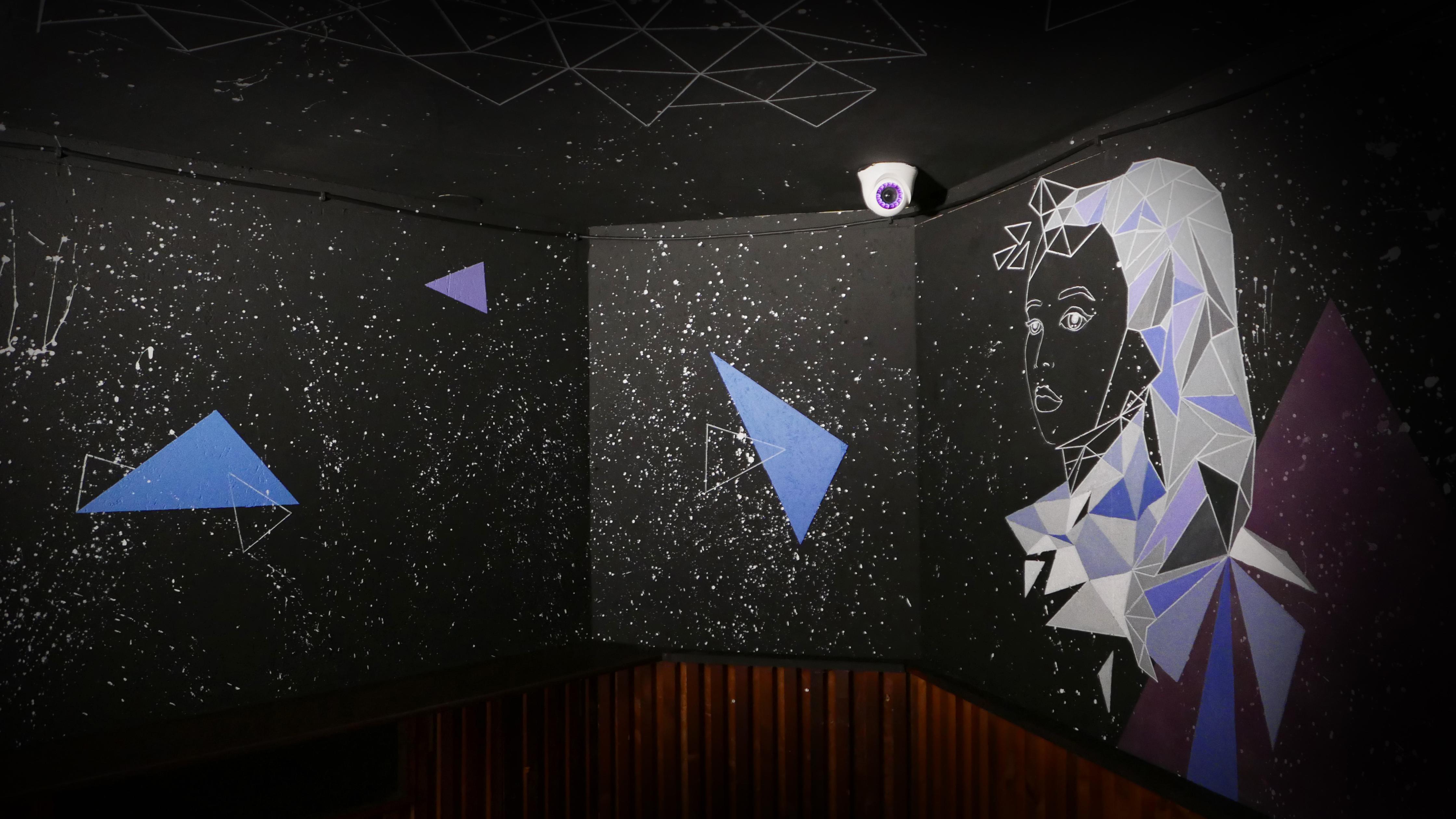Wandgestaltung im kleinen Tanzraum