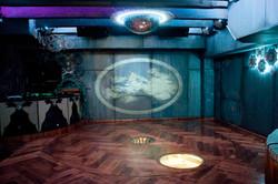Tanzfläche mit Projektion