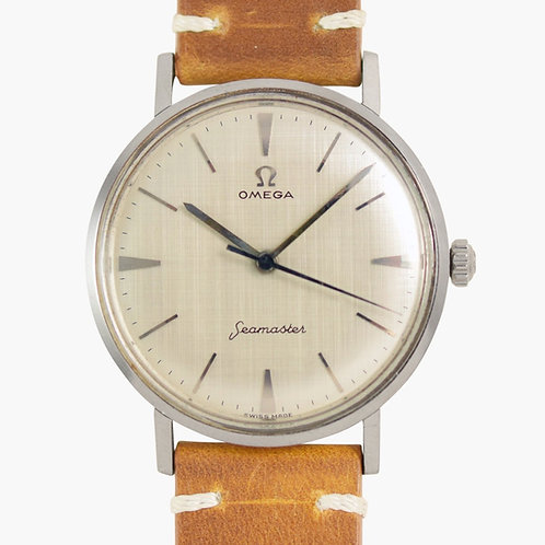 1960s Omega Seamaster Frosted linen Dial
