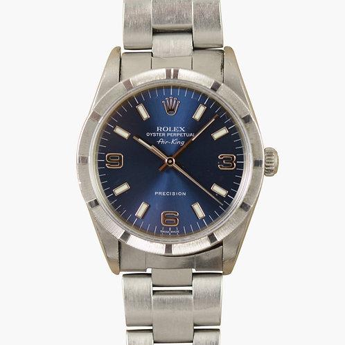 2000 Rolex Airking Blue Dial