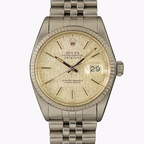 Mint 1985 Rolex Datejust 16014 Linen Dial