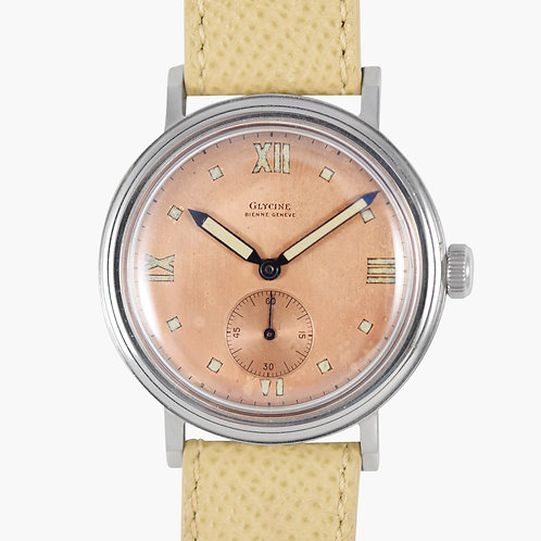1940's Glycine Salmon Dial Art Deco
