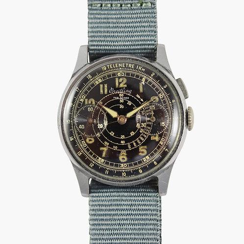 1930s Breitling Pilot Monopusher Chronograph