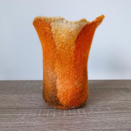 Felted Vase