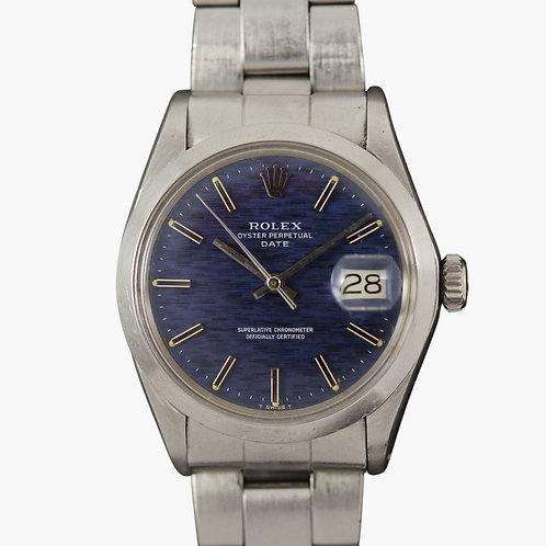 1970 Rolex Date Blue Shantung Dial