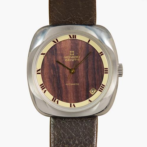 NOS 1970s Movado Zenith Wood Dial