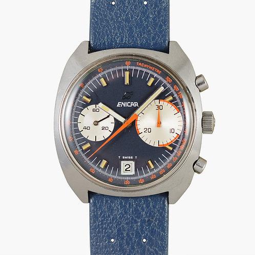 1971 Enicar Big Eye Chronograph