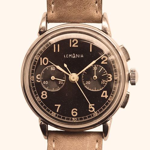 1950s Lemania 27CH Gloss Chronograph