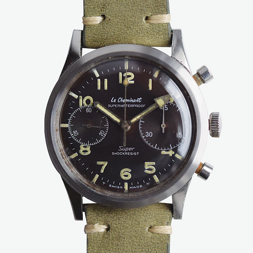 1960s Le Cheminant Super Military Chronograph