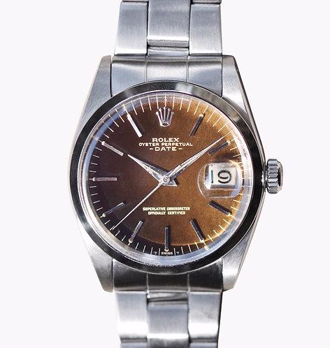 Rolex Date 1500 Tropical Gilt Dial