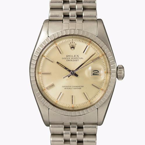 1960s Rolex Datejust 1603 Pumpkin lume