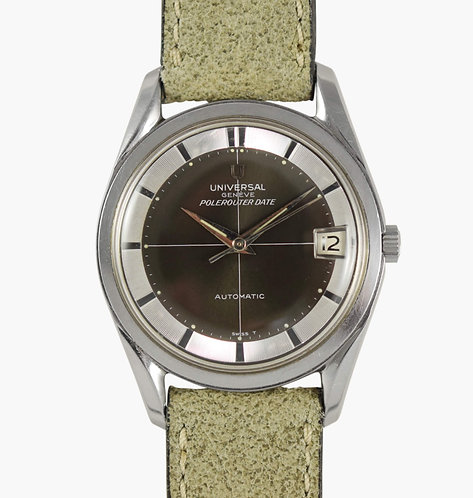 Universal Geneve Polerouter Date Olive / Slate Grey