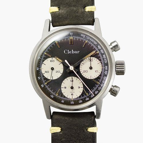 1960s Clebar Panda Chronograph