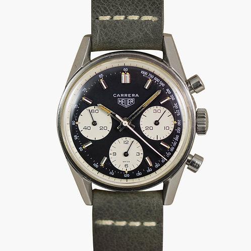 1960s Heuer Carerra 2447 Inverse Panda