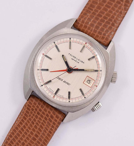 1970's Favre-leuba Seabird Alarm Watch