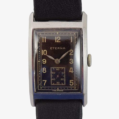 "1930s Eterna ""Tank"" Noir Wristwatch"