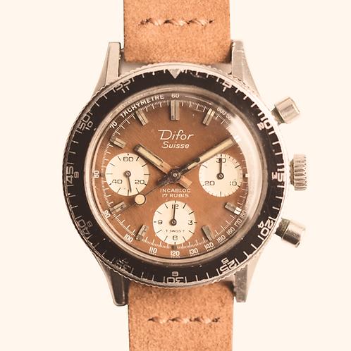 1960s Difor Caramel Chronograph L349