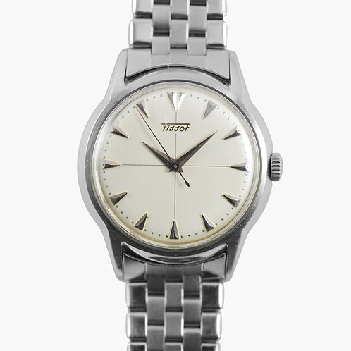 1950s Tissot Silver Index On Original GF Bracelet