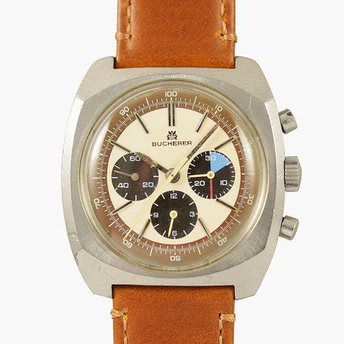 1970s Bucherer Tropical Panda Chronograph