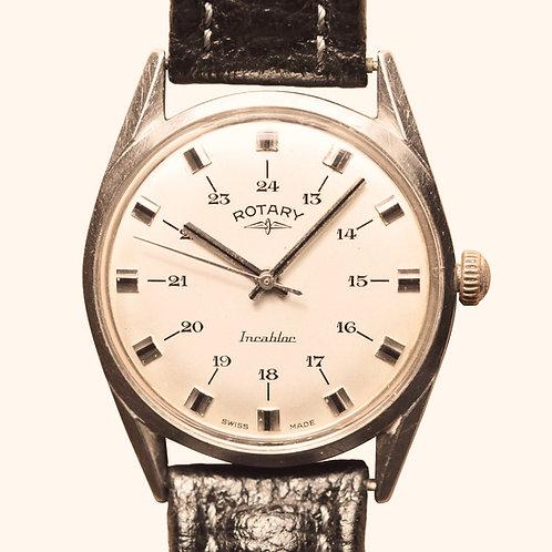 1960s Rotary Incabloc 24hr Dial