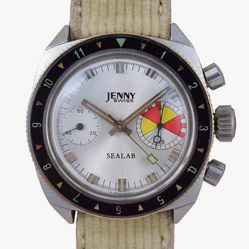 1960's Jenny Swiss Regatta Sealab Chronograph