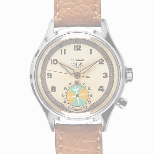 1950's Rare Heuer Solunar Chronograph