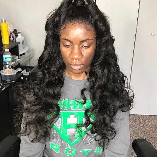 22 of _lmtresses Brazilian loosewave. Make your appointments ONLINE today! Www.hairbylatisamonae