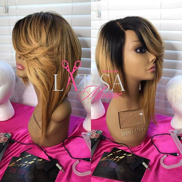 She's otw to her mommy. This is Called the _autumn_ unit on my website . Www.hairbylatisamonae