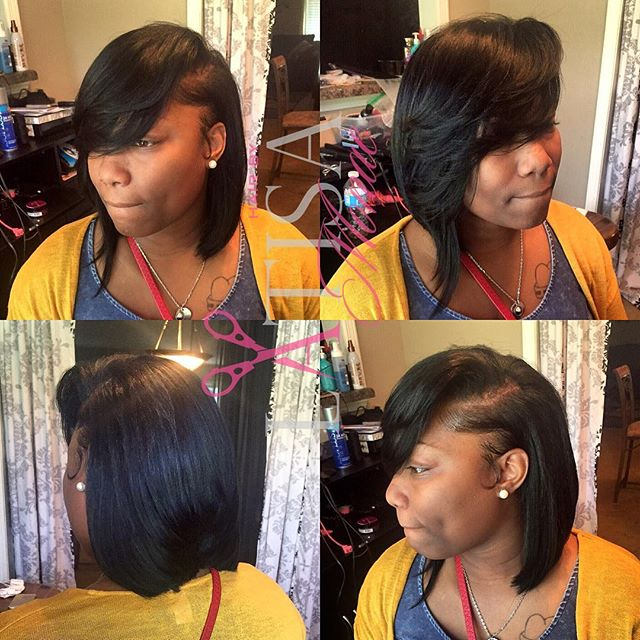 Bob of the day. I always love bobs on my friend. Make your appts today www.hairbylatisamonae