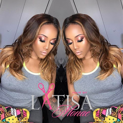 Custom color and cut by me on _jzapalvonkrishna .jpg Makeup by my boo __makeupbybarbee_