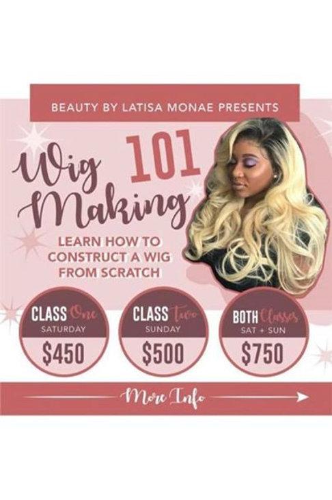 Wig Making 101 October 20/21st