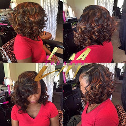 Love love this look. 😍😍. My client is wearing 2 bundles of my personal hair line _lmtresses