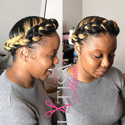 I'll always adore this hairstyle 💁🏽. Book your Halo braid appointment today at www.hairbylatisamon