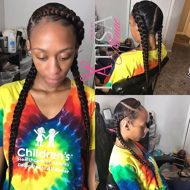 Feed in braids 😍😍😍
