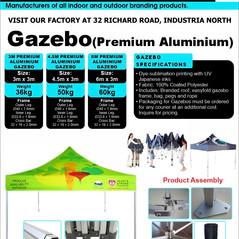 Budget Branding. Premium Alu Gazebo. Pro