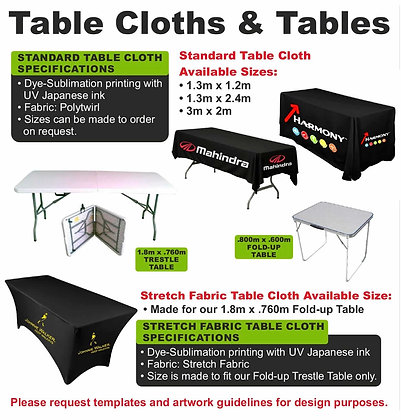 Table Cloths & Tables