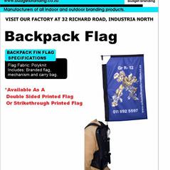Budget Branding. Backpack Flag. Product