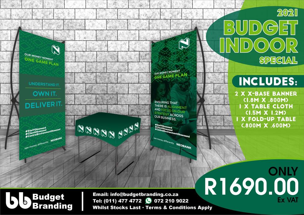 Budget Branding. Budget Indoor Special