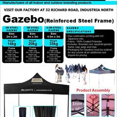 Budget Branding. Steel Gazebo. Product P