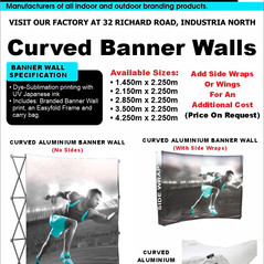 Budget Branding. Curved Banner Wall. Pro
