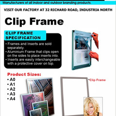 Budget Branding. Clip Frame. Product Pag