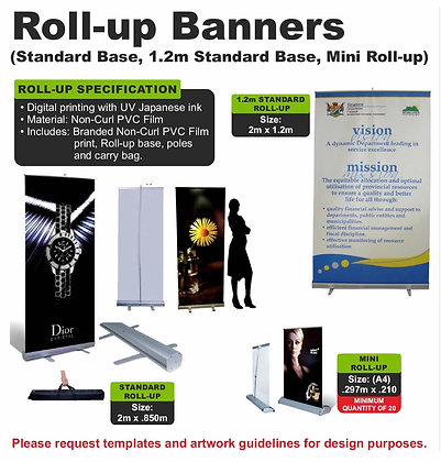 Mini Roll up & 1.2 m Roll up Banners