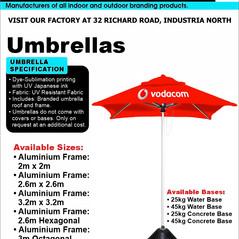 Budget Branding. Umbrella. Product Page.