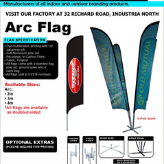 Budget Branding. Arc Flag. Product Page.