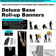 Budget Branding. Deluxe Roll-up. Product